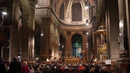 クリスマスミサをサン・シュルピス教会で。